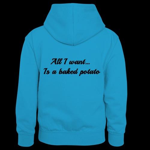 Baked potato - Kids' Contrast Hoodie