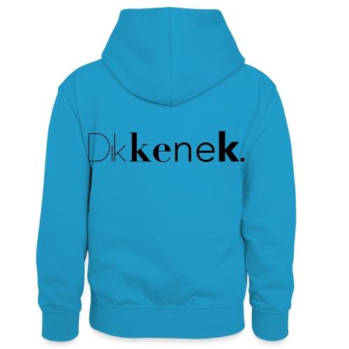 dikkenek - Sweat à capuche contrasté Enfant