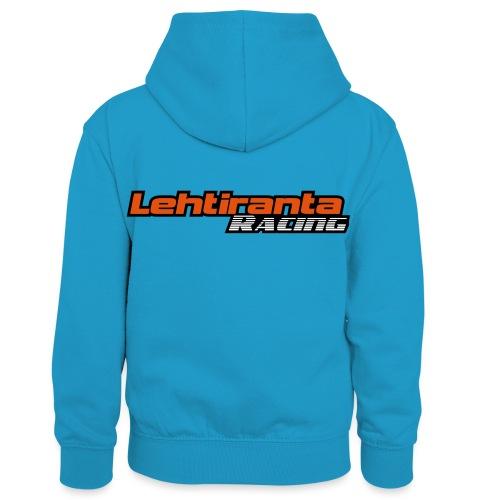 Lehtiranta racing - Lasten kontrastivärinen huppari