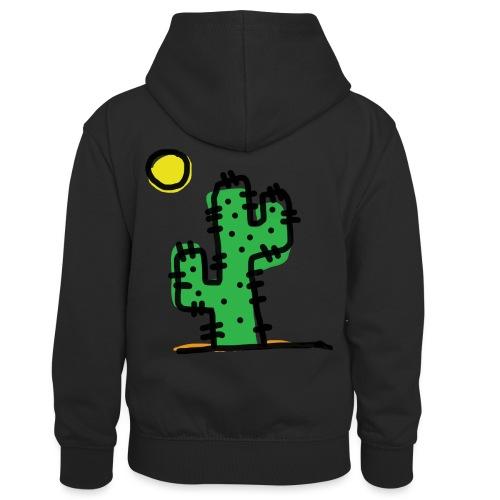 Cactus single - Felpa con cappuccio in contrasto cromatico per bambini