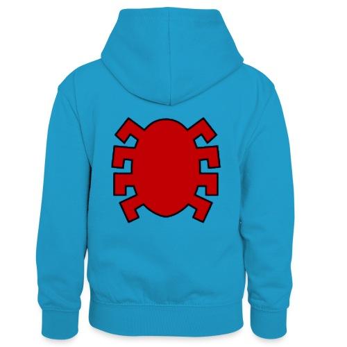 spiderman back - Kids' Contrast Hoodie
