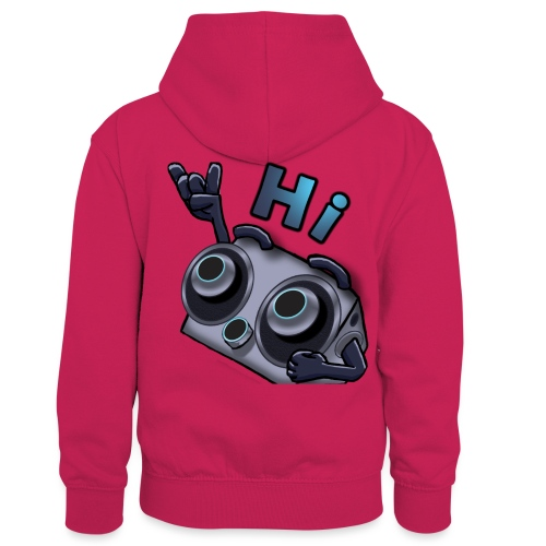 The DTS51 emote1 - Teenager contrast-hoodie/kinderen contrast-hoodie