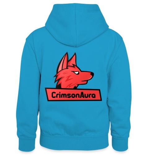 CrimsonAura Logo Merchandise - Kids' Contrast Hoodie