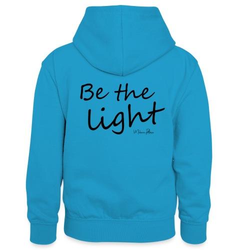 Be the light - Sweat à capuche contrasté Enfant