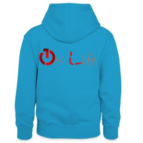 OnLife Logo - Sweat à capuche contrasté Enfant