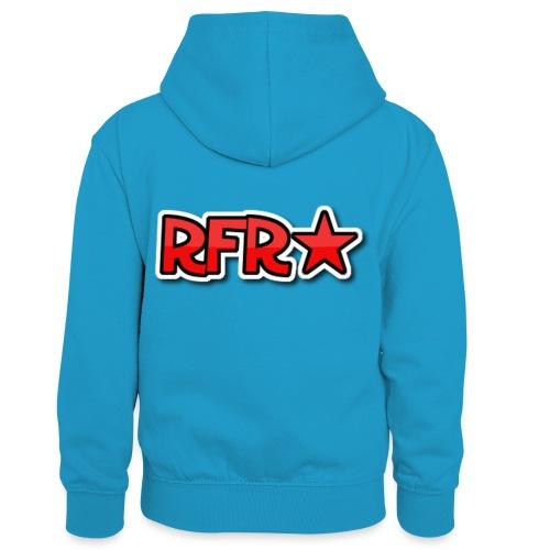 rfr logo - Lasten kontrastivärinen huppari
