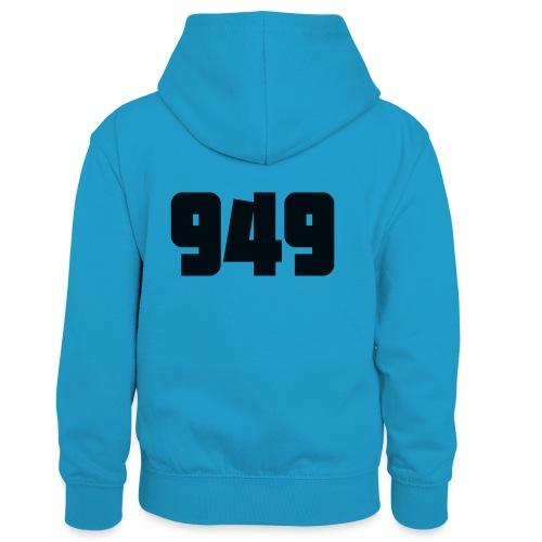 949black - Kinder Kontrast-Hoodie