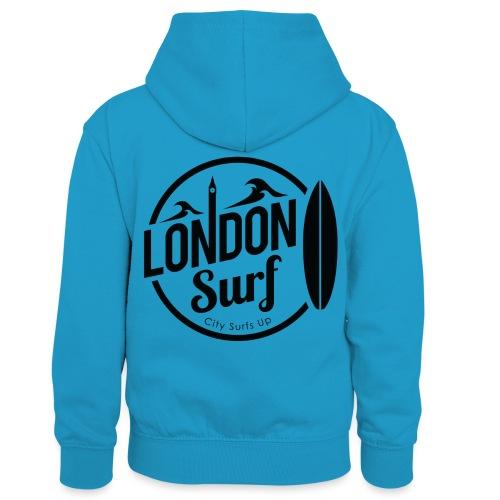 London Surf - Black - Kids' Contrast Hoodie