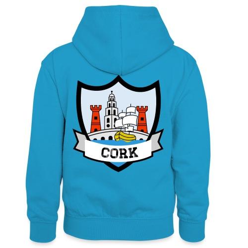 Cork - Eire Apparel - Kids' Contrast Hoodie