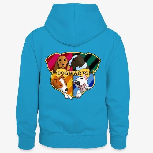 Dogwarts Logo - Kids' Contrast Hoodie