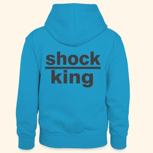 shock king funny - Felpa con cappuccio in contrasto cromatico per bambini