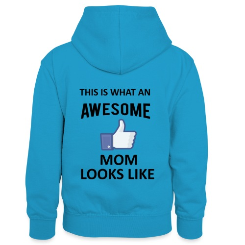 Awesome Mom - Kinder Kontrast-Hoodie