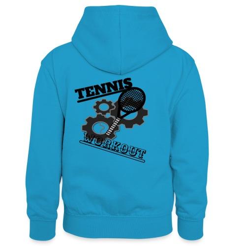 TENNIS WORKOUT - Kids' Contrast Hoodie