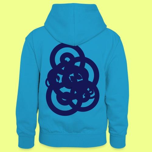 espirales azul - Sudadera con capucha para niños