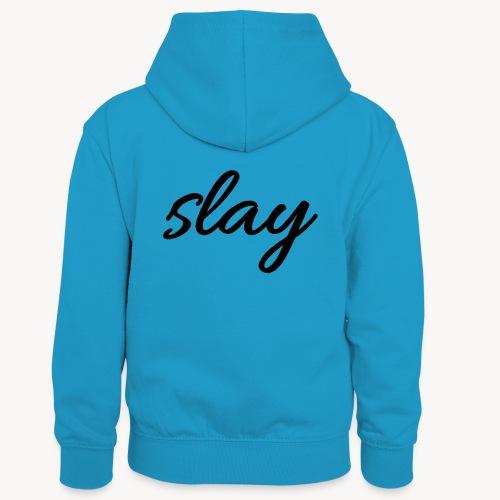 SLAY - Lasten kontrastivärinen huppari