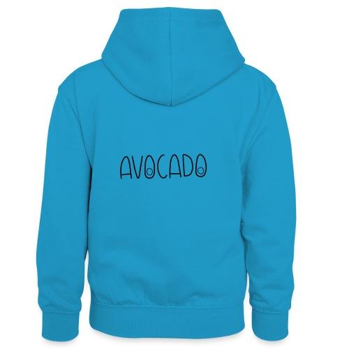 Avocado - Kinder Kontrast-Hoodie