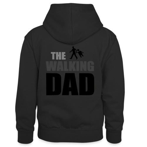 the walking dad auf dem Weg in die lustige Bar - Kinder Kontrast-Hoodie