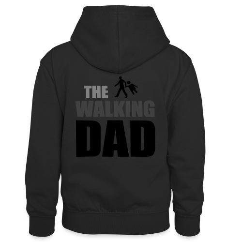 the walking dad auf dem Weg in die lustige Bar - Kinder Kontrast-Hoodie