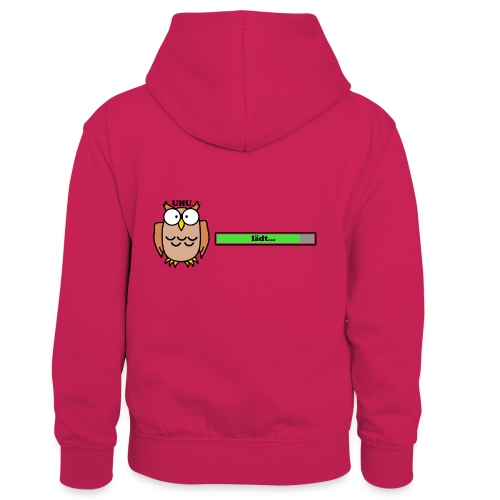 Uhu - Kinder Kontrast-Hoodie