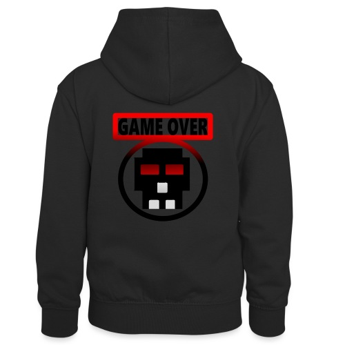 Game over - Kinder Kontrast-Hoodie