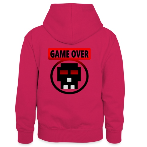 Game over - Kinder Kontrast-Hoodie
