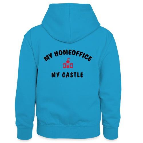 MY HOMEOFFICE MY CASTLE - Kinder Kontrast-Hoodie