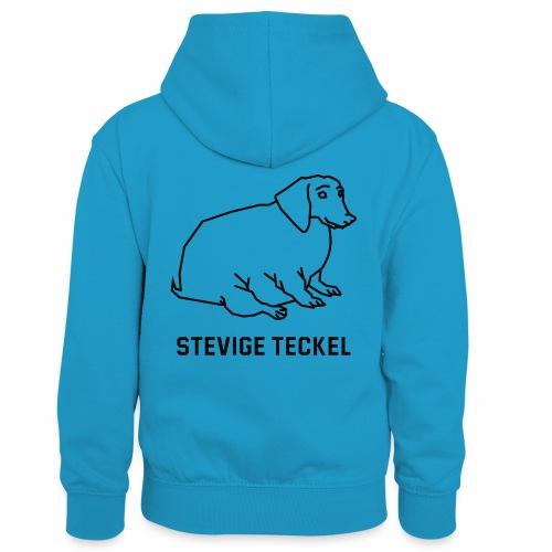 Stevige Teckel - Teenager contrast-hoodie/kinderen contrast-hoodie