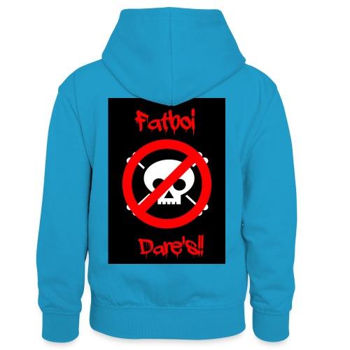 Fatboi Dares's logo - Kids' Contrast Hoodie