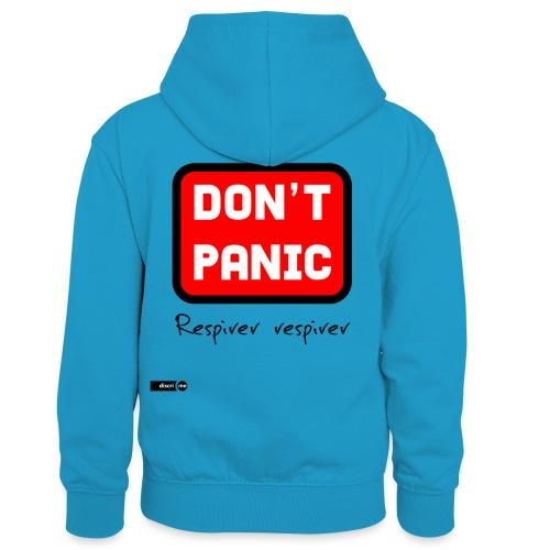 don't panic, respirer - Sweat à capuche contrasté Enfant