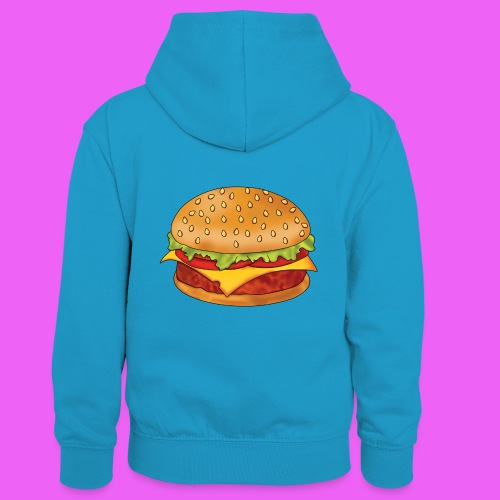 hamburguesa - Sudadera con capucha para niños