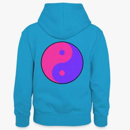 Yin Yang PinkBlue - Sudadera con capucha para niños