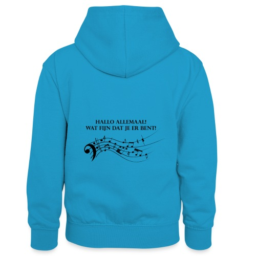 Hallo allemaal! - Teenager contrast-hoodie/kinderen contrast-hoodie