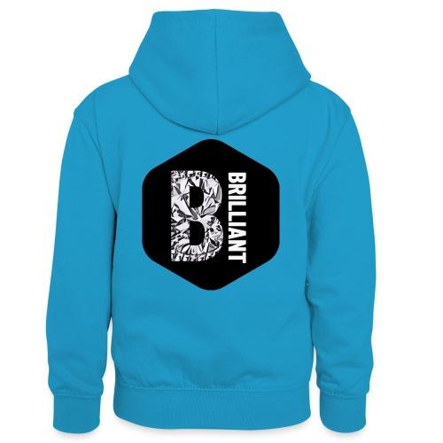 B brilliant black - Teenager contrast-hoodie/kinderen contrast-hoodie