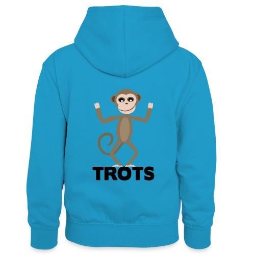 apetrots aapje wat trots is - Teenager contrast-hoodie/kinderen contrast-hoodie