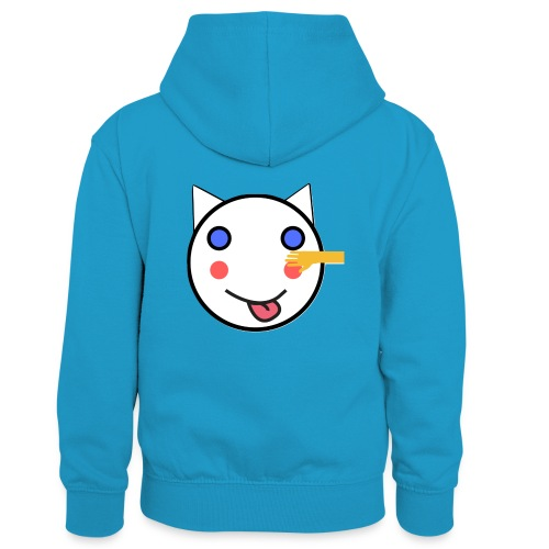 Alf Cat With Friend | Alf Da Cat - Kids' Contrast Hoodie