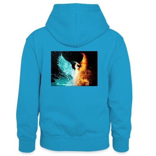 Elemental phoenix - Kids' Contrast Hoodie