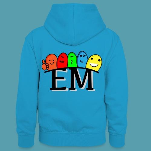 EM - Lasten kontrastivärinen huppari