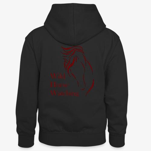 Logo Aveto Wild Horses - Felpa con cappuccio in contrasto cromatico per bambini