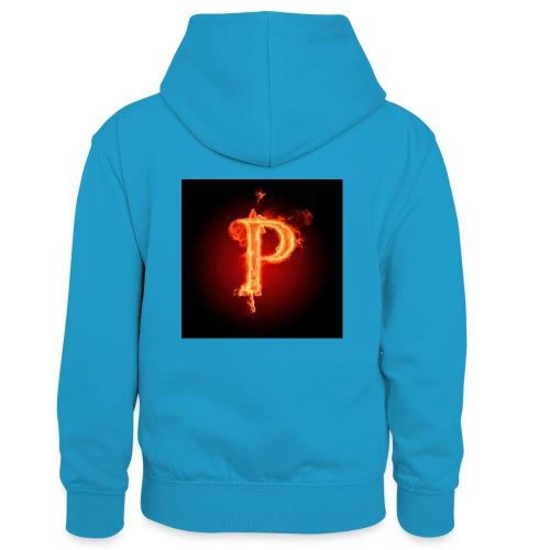 Power player nuovo logo - Felpa con cappuccio in contrasto cromatico per bambini