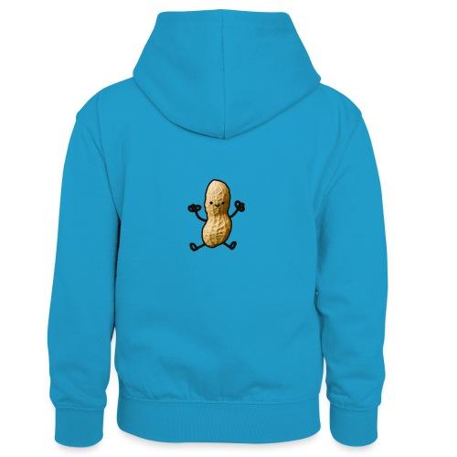 Pinda logo - Teenager contrast-hoodie/kinderen contrast-hoodie