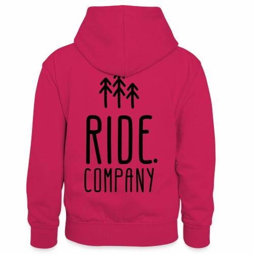 RIDE.company Logo - Kinder Kontrast-Hoodie