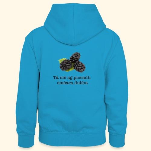 Picking blackberries - Kids' Contrast Hoodie