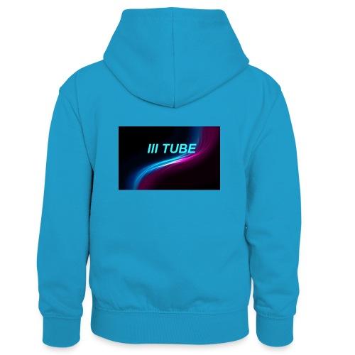 logo - Teenager contrast-hoodie/kinderen contrast-hoodie