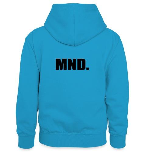 MND. - Teenager contrast-hoodie/kinderen contrast-hoodie