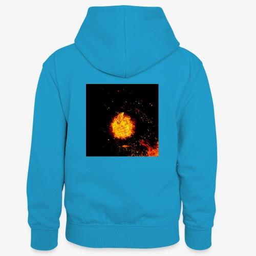 FIRE BEAST - Teenager contrast-hoodie/kinderen contrast-hoodie