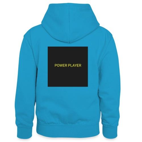 Power player - Felpa con cappuccio in contrasto cromatico per bambini
