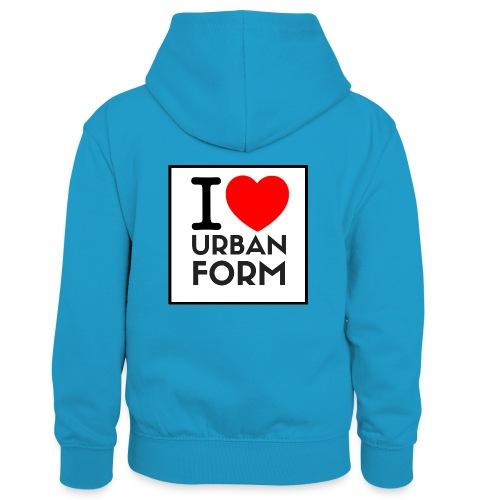 I LOVE URBAN FORM - Sweat à capuche contrasté Enfant