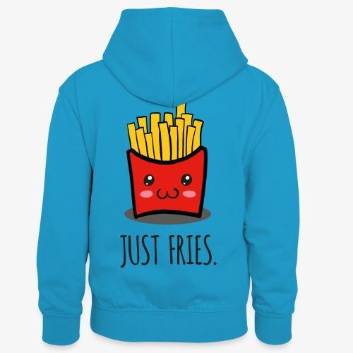 Just fries - Pommes - Pommes frites - Kinder Kontrast-Hoodie