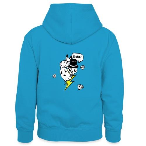 Boo! - Dziecięca bluza z kontrastowym kapturem