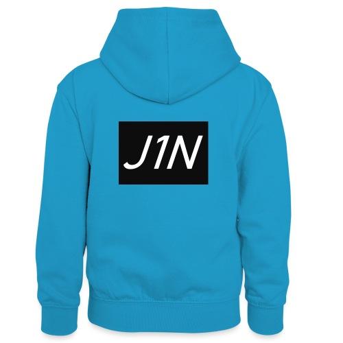 J1N - Kids' Contrast Hoodie